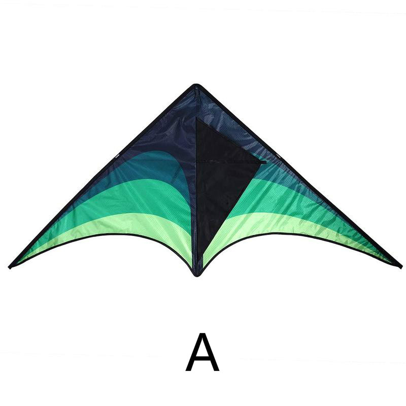 Colorful Kite Outdoor Fly Kites For Children Adults Triangle Long Tail Polyester Kites With Control Bar And Line Outdoor Toys