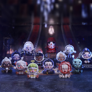 POP MART Whole box Skull Panda Ancient Castle Series Collection Doll Collectible Cute Action Kawaii animal toy figures