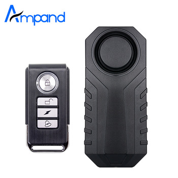 Ampand Waterproof Bike Motorcycle Electric Bicycle Security Anti Lost Wireless Remote Control Vibration Detector Alarm 1