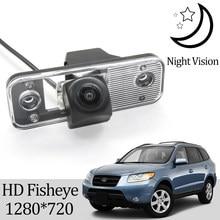 Owtosin câmera de visão traseira, hd 1280*720, para hyundai, santa fé (cm) suv 2005-2012 acessórios de estacionamento reverso do veículo