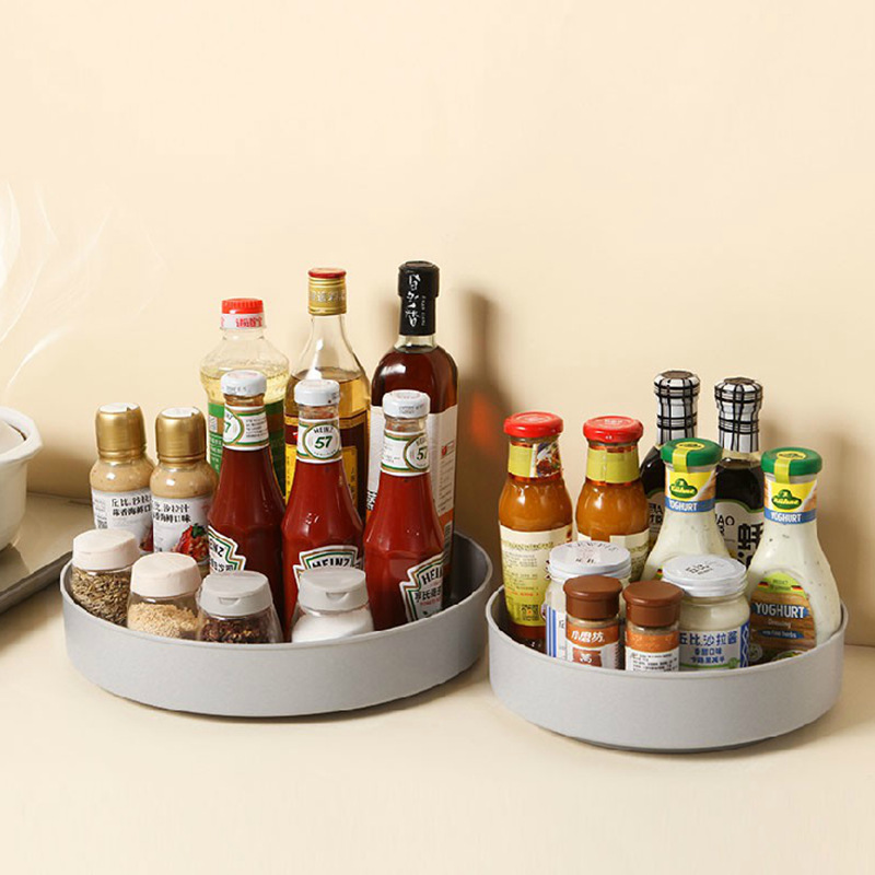 Storage-Bin Rotating-Organizer Pantry-Cabinet Turntable Lazy-Susan Non-Slip with Wide-Base