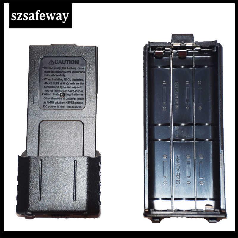 Shell di plastica Batterie Holder Box w Coperchio per 6 x 1,5 V AA Battery