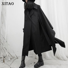 Coat Black Trench Spring Full-Sleeve XITAO Women Casual Small DMY2561 Minority Fresh