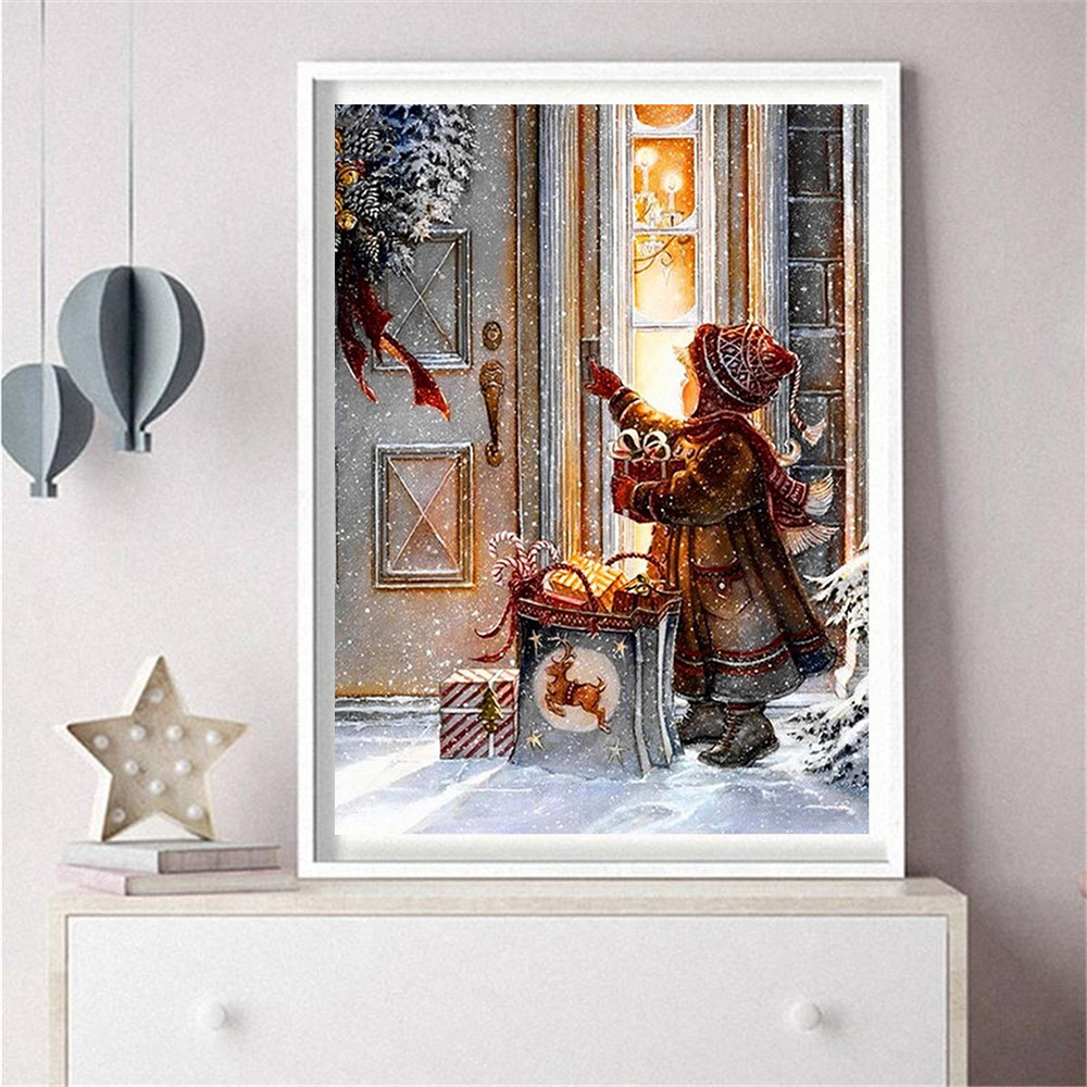 HUACAN Full Square Drill Diamond Painting Christmas 5d DIY Diamond Embroidery Child Cartoon Picture Of Rhinestone Decoration