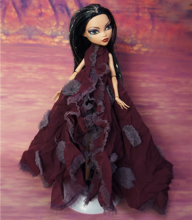 Doll Evening Dress Monstering High Doll Dressing Soft Casual Wear Handmade Clothes Outfit Doll Clothing Set For 1/6 Doll  Toys