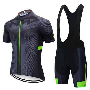 Ropa de ciclismo para hombre, conjunto de jersey y pantalones cortos de secado rápido, Maillot, Culotte