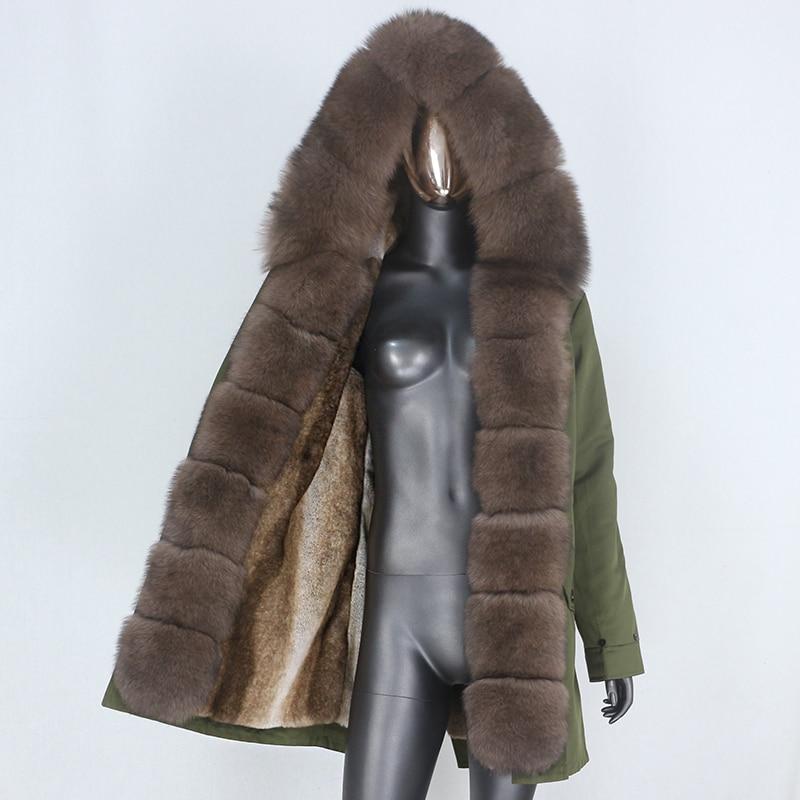 H519f30df3cfe42c99bdd5d662d0ba2c3w CXFS 2021 New Long Waterproof Parka Winter Jacket Women Real Fur Coat Natural Raccoon Fur Hood Thick Warm Streetwear Removable