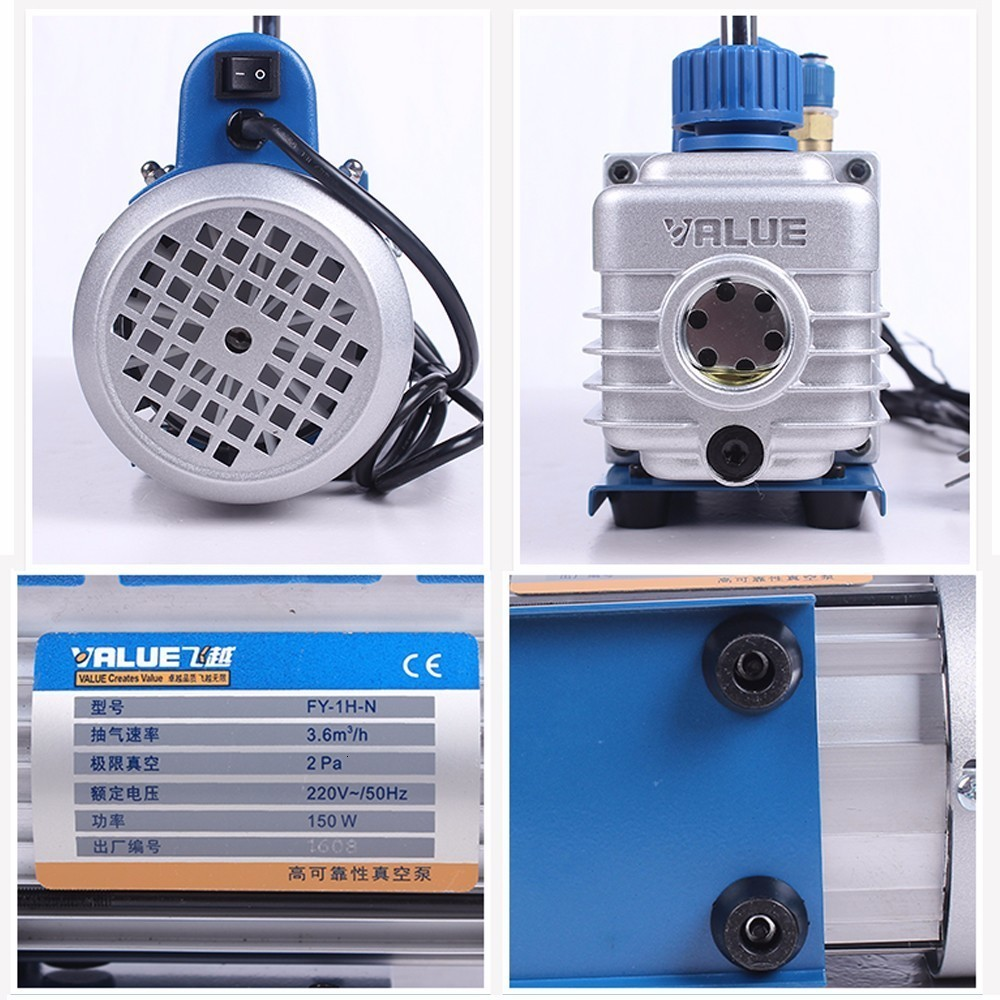 2019 nouvelle pompe à vide d'étape simple de palette rotative de 1L Mini pour le séparateur d'écran de réparation de climatisation de voiture - 2