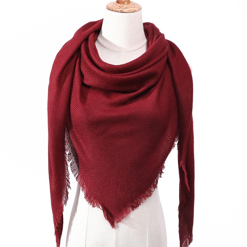 2019 femmes écharpe plaid hiver cachemire écharpes dame châles bandana cou chaud tricot Triangle pansement foulard echarpe femme enveloppes