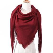 2019 women scarf plaid winter cashmere scarves lady shawls bandana neck warm knit Triangle Bandage foulard echarpe femme wraps