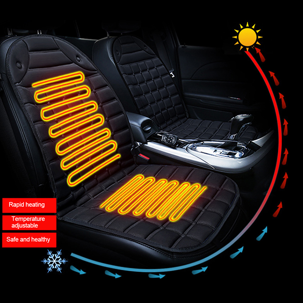 12V Winter Heating Thermal Seatpad Auto Accessories Heated Smart Multifunctional Car Seat Heater Single Cushion Winter Heater