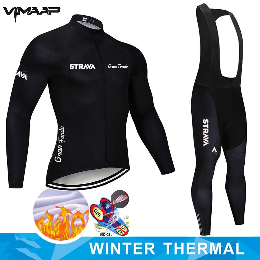 Strava inverno velo térmico ciclismo jerseys definir manga longa mtb roupas de bicicleta mountain bike roupas roupas roupas esportivas wear terno