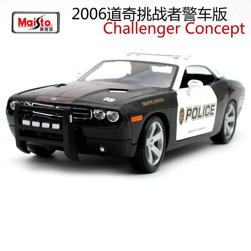 Maisto 1:18 2006 Dodge Challenger концепция полицейской машины литой под давлением 275*115*73 модель автомобиля роскошный автомобиль Коллекционирование для м...