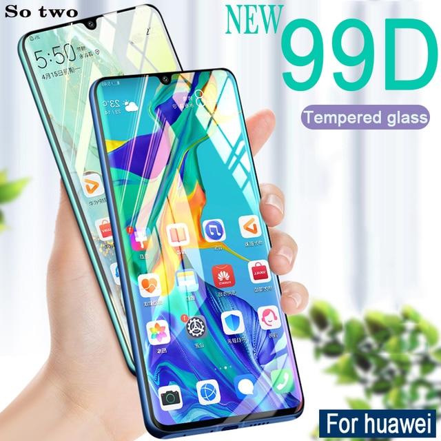 99D kính Cường Lực trên cho Huawei P30 P10 P20 Lite Pro Tấm bảo vệ Màn Hình trên cho Huawei Mate 20 10 Lite pro Bảo Vệ kính Flm