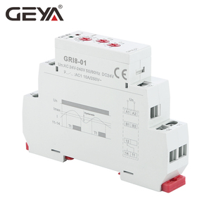 Image 3 - Free Shipping GEYA GRI8 01 Current Monitoring Relay Current Range 8A 16A AC24V 240V DC24V Overcurrent Protection Relay