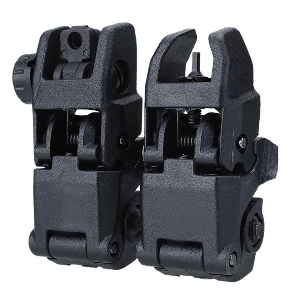 2 STUKS Tactical BUIS M4 AR15 AR-15 Front Rear Sight Flip Up Snelle Overgang Backup Sight Voor Picatinny Rail