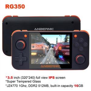 """Image 2 - HEYNOW RG350 Retro spielkonsole HDMI Ausgang 3.5 """"IPS Bildschirm 10000 + Spiele 18 Emulator Linux System Handheld Spiel player Beste Geschenk"""