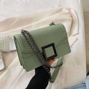 Vintage Crocodile Flap Chain Women's Messenger Crossbody Bags Fashion Quality Handbags Ladies Shoulder Bags Clutch Female Purse vintage crocodile composite handbags women shoulder crossbody bags 2020 fashion totes ladies messenger bag female purses