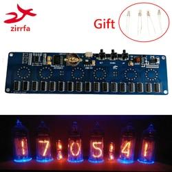 zirrfa 5V 1A Electronic DIY kit in14 Nixie Tube digital LED clock gift circuit board kit PCBA, No tubes