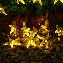 Solar Outdoor Waterproof 30LED Starfish Creative Christmas Decoration LED Star Light Lights String