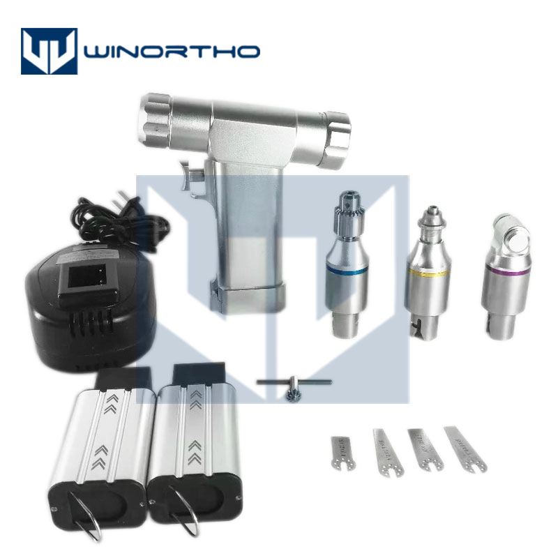 Multifunction Bone Drill One Handpiece With 3 Attachments Cannulated Acetabulum Reamer Saggital Saw Connectors Orthope