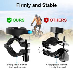 Image 4 - Bicycle Phone Holder For iPhone 12 Samsung Universal Mobile Cell Phone Holder Bike Handlebar Clip Stand GPS Mount Bracket