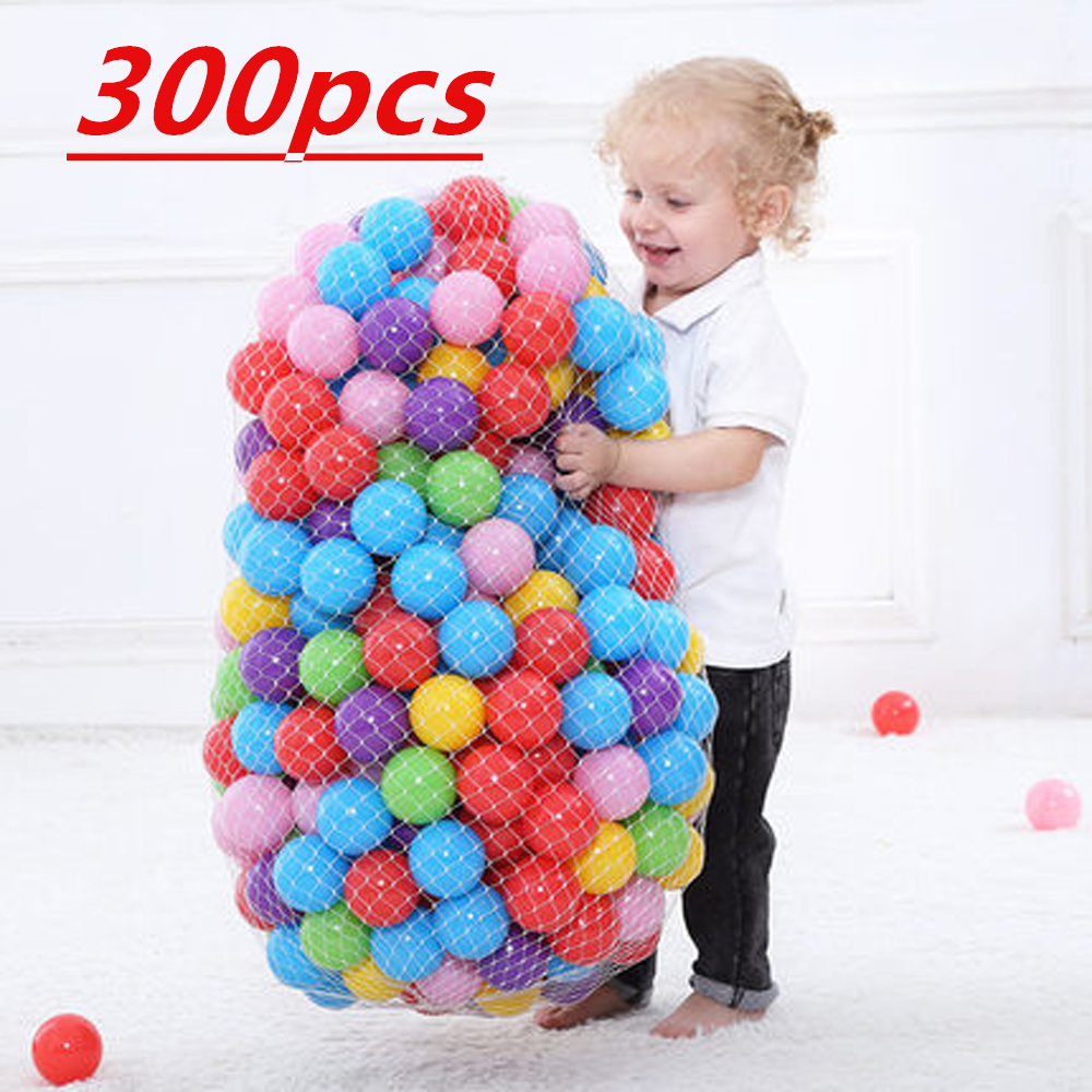 300 Pcs Eco-Friendly Colorful Soft Plastic Water Pool Ocean Wave Ball Baby Funny Toys Play House Outdoors Toy Ocean Ball 5.5CM