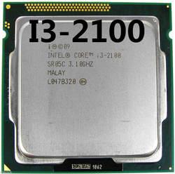 Процессор Intel Core i3 2100 3,1 ГГц 3 Мб Кэш двухъядерный SOCKET 1155 Qual Core Настольный I3-2100 cpu