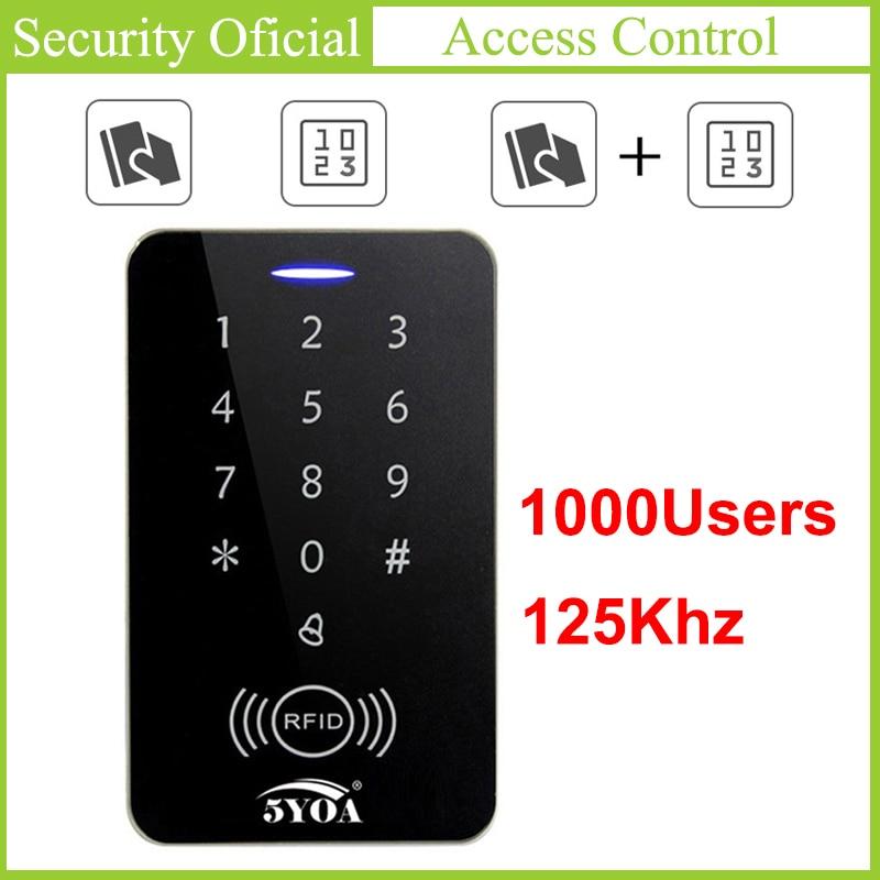 125 кГц клавиатура управления доступом RFID ключ карты контроллер автоматическая дверь кард-ридер управление доступом Цифровой Пароль Клавиа...