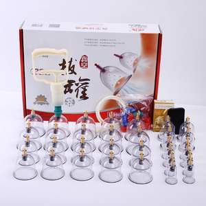 Vacuum-Cupping-Kit Cups Massager Curve-Suction-Pumps Pull-Out Chinese Cans 32 Relax