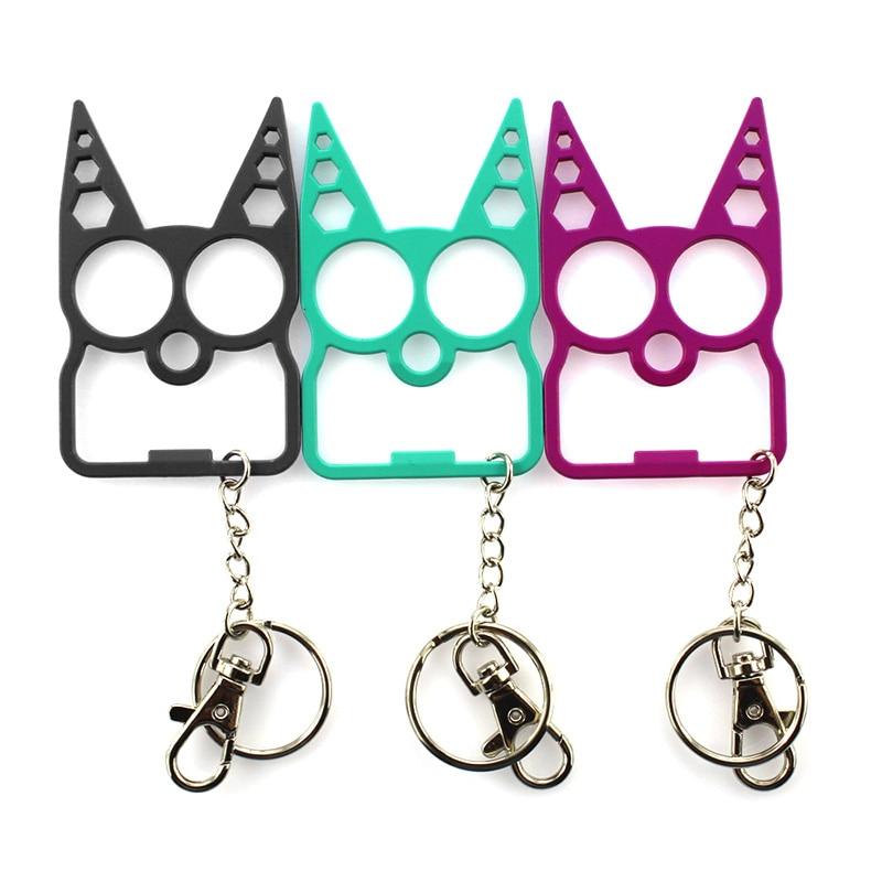 Portable Cute Cat Opener Screwdriver Keychain Self Defense