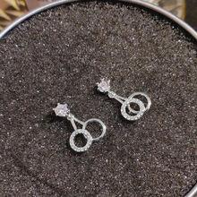 S925 стерлингового серебра серьги Для женщин тонкой bizuteria