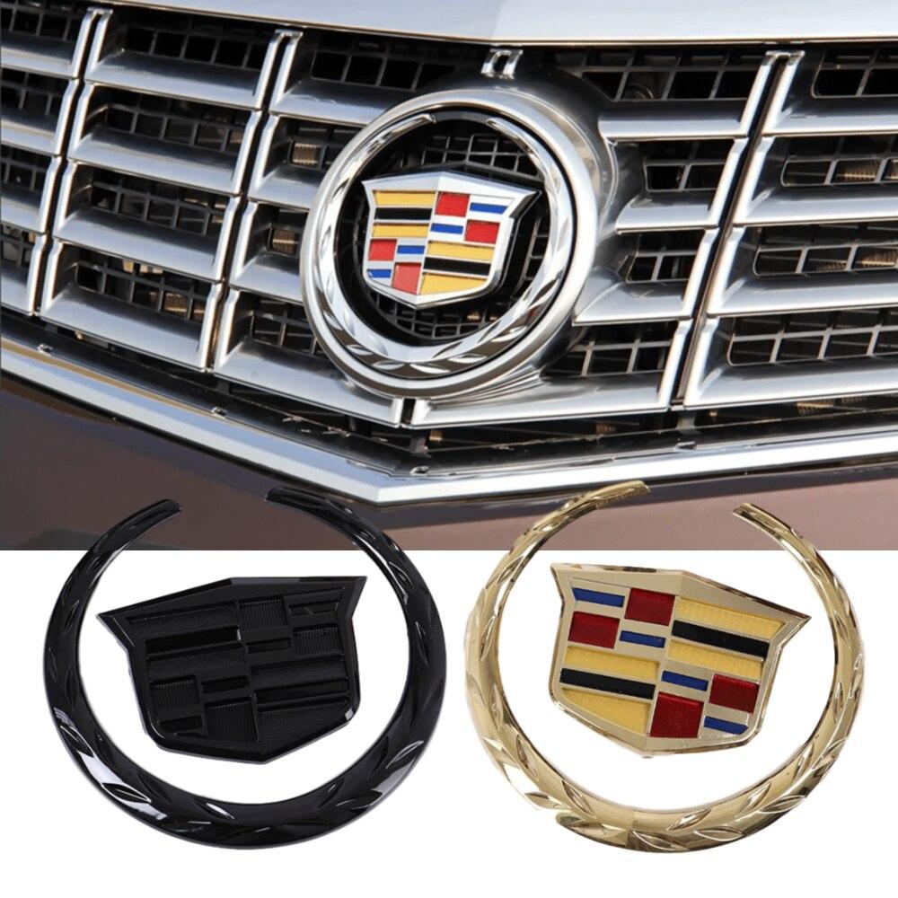Araba ön amblem arka Badge Sticker SRX ATS XTS için arka gövde Boot ön kafa Grille aksesuarları araba logosu çıkartmaları dekorasyon