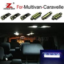 Светодиодная подсветка для внутреннего купола светодиодный лампы+ Запись ноги подпятник свет комплект для VW Multivan Caravelle MK5 MK6 T5 T6(03-18