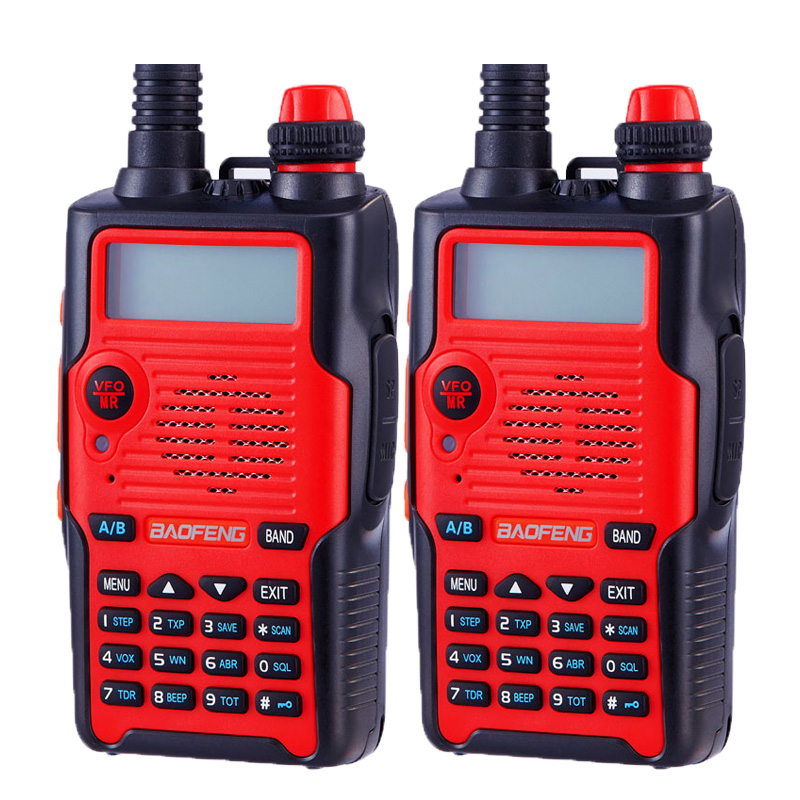 2pcs Baofeng UV-5R 5th Generation ham radio 136-174/400-520MHz  Professional FM walkie-talkie 5 colors