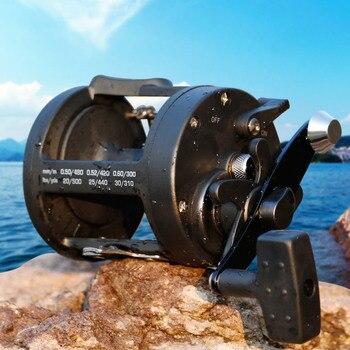 Sougayilang Saltwater Fishing Reel TSSD 3000L-4000L Trolling Drum Fishing Reel Saltwater Right Hand Black Sea Fish Reel Pesca 3000l