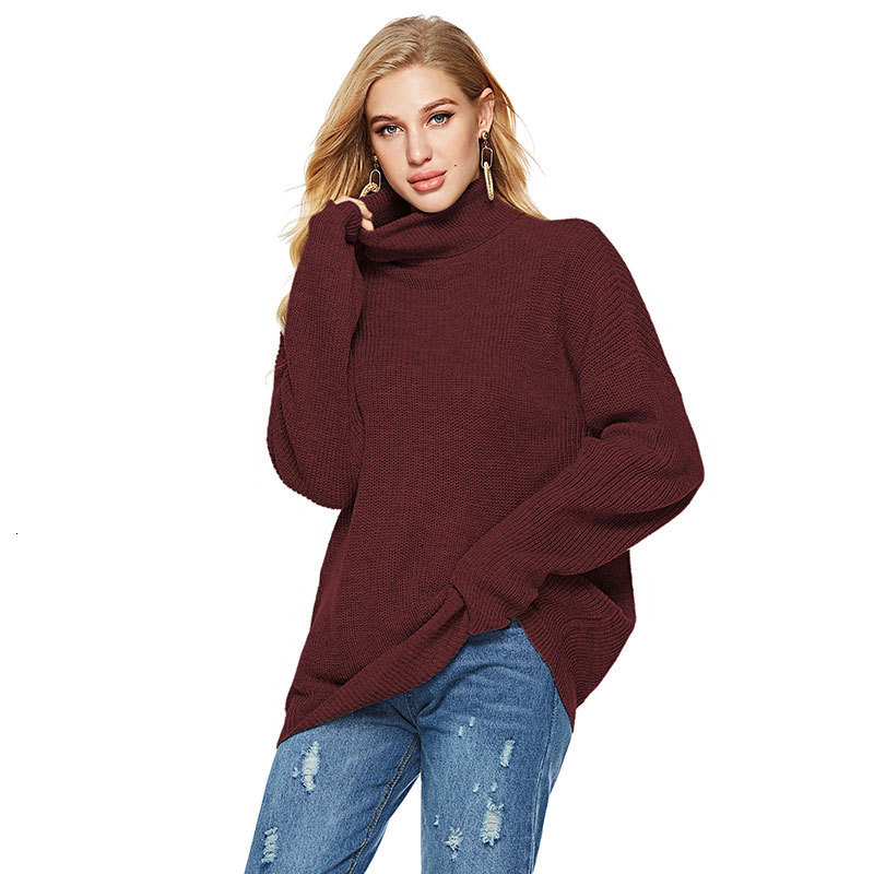 New Sweater Women Striped Turtleneck Knitting Pullovers Autumn Winter Causal Loose Ladies Jumpers Knitwear Robe Femme 2019