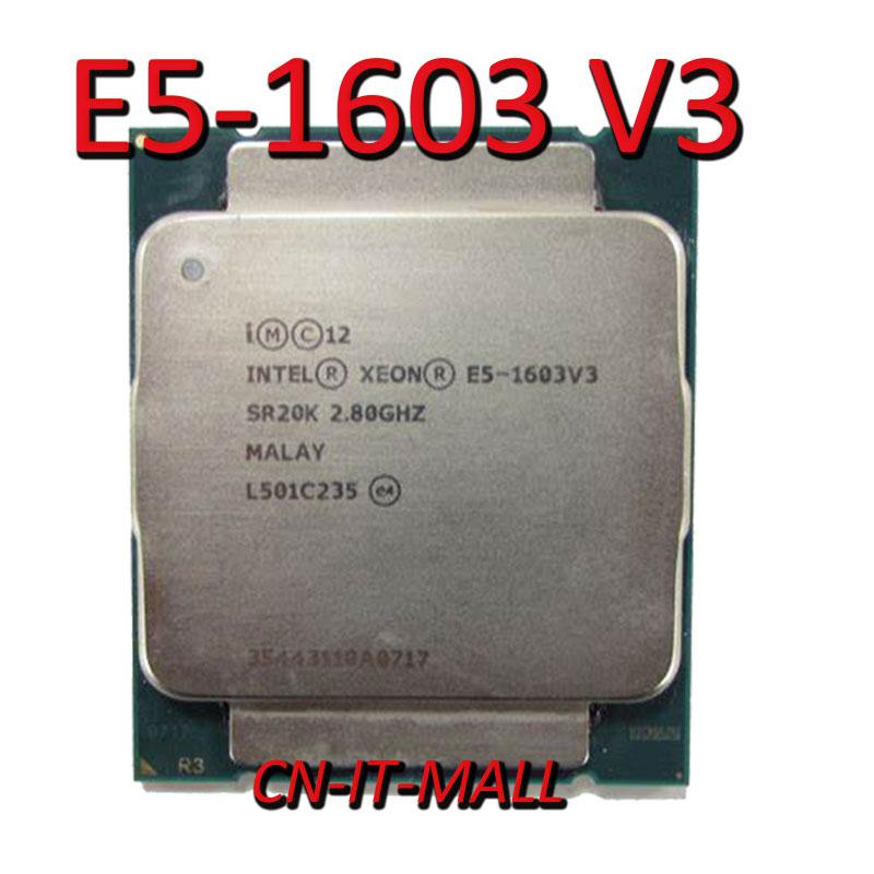Intel Xeon E5-1603 V3 CPU 2.8GHz 10M 4 Core 4 Threads LGA2011-3 Processor