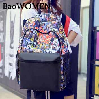 BaoWomen Anime Backpack Naruto School Backpacks Bag Teenagers ONE PIECE Bleach Sharingan Cosplay Boys Girls Laptop Bags Travel anime black butler cosplay backpack anime two elementary elementary junior high school student bag girls shoulder bag backpacker