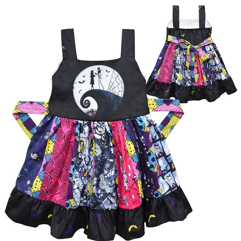 Baby Nightmare Before Christmas Jack Party Dress Tutu Bodysuit Halloween Costume