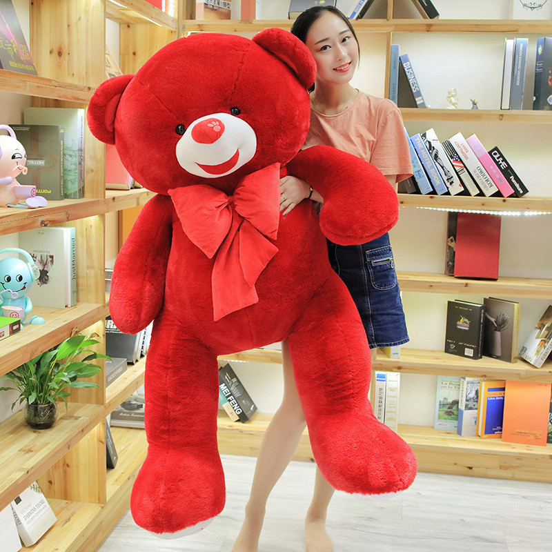 60 große Größe Fett Teddybär Plüsch Spielzeug Rot Farbe Teddybär Plüsch Puppe Große Geschenk Für Liebhaber Hohe qualität Big Bear Geschenk - 4