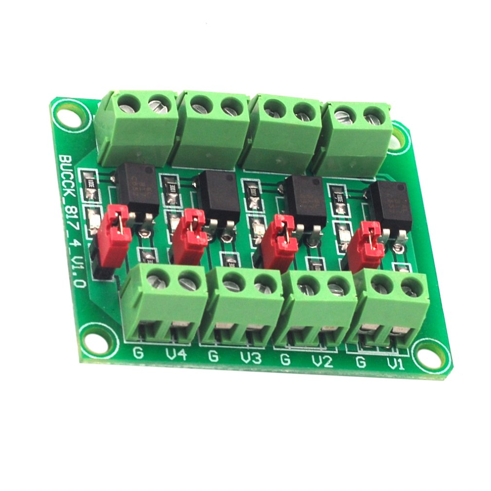 817 Optocoupler 4-way Voltage Isolation Board Voltage Control Switching Module Drive Module Optical Isolation Module