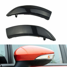 2PCS Flowing Turn Signal Light LED Side Wing Rearview Mirror Dynamic Indicator Blinker Repeater Light For Ford Fiesta 2008-2017 цена 2017
