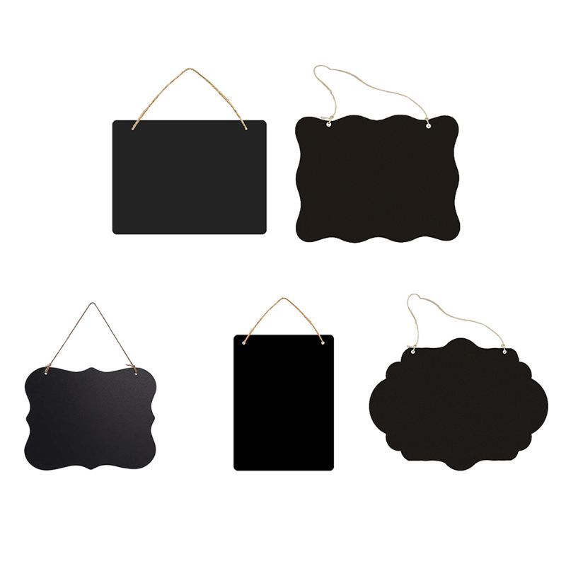 Rustic Chalkboard Hanging Signs Double Sided for standard Chalk Message Board fo 1XCB