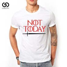 New Dracarys right game around the US drama not today Printed T-shirt mens short sleeve