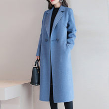 Winter Coat Women Casual Button Coat Elegant Long Sleeve Work Office Fashion Jacket Wool Blend Women Coat Moda Feminina(China)