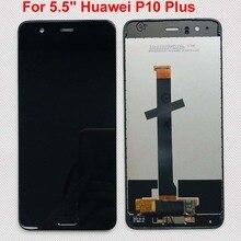 """새로운 5.5 """"화웨이 P10 플러스 VKY L09 VKY L29 VKY AL00 LCD 디스플레이 스크린 + 터치 패널 디지타이저 프레임 + 지문"""