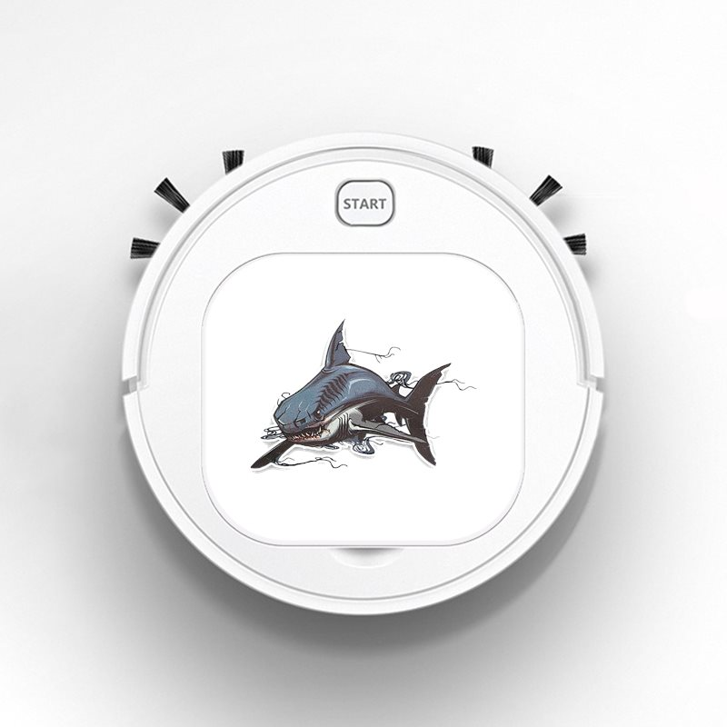 Smart Sweeper Robot House Durable Power Floor Cleaning Robots Vacuum Cleaner 1800pa Interesting Lovely Great White Shark