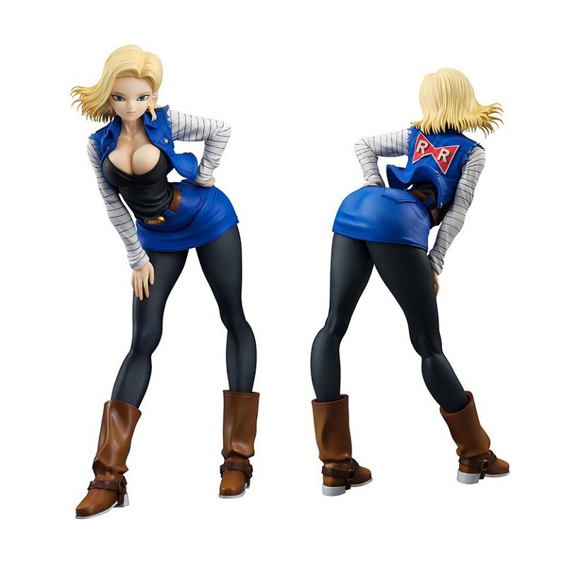 NEW hot 19cm Dragon ball <font><b>sexy</b></font> <font><b>Android</b></font> <font><b>18</b></font> lazuli Action <font><b>figure</b></font> toys <font><b>collection</b></font> doll Christmas gift with box image