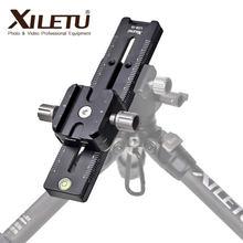 XILETU-deslizador de pista de LCB-18B para cámara DSLR, Riel de enfoque, abrazadera y placa QR, compatible con Arca Swiss